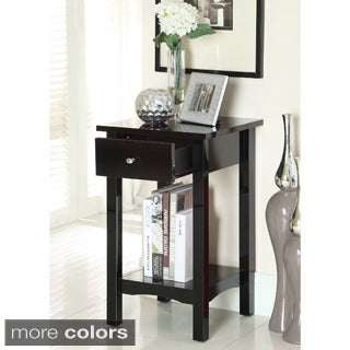 Furniture of America Carlet Compact Size Side Accent Table with Storage Drawer