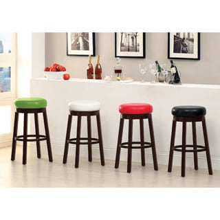 Furniture of America Azio Leatherette Swivel Seat Bar Stool (Set of 2)