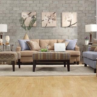 INSPIRE Q Elston Linen Tufted Sloped Track Sofa