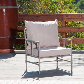 Christopher Knight Home Northrup Outdoor Grey Pipe Chair with Cushions