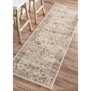 nuLOOM Oriental Vintage Viscose Ashton Natural Runner Rug (2'7 x 8')