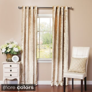 Aurora Home Velvet Grommet Top Curtain Panel Pair