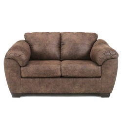 Signature Design by Ashley Jathan Mocha Stationary Loveseat