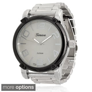 Geneva Platinum Men's Quartz Link Watch