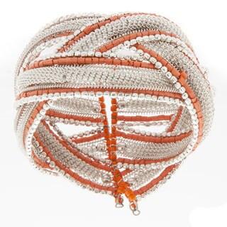 Alexa Starr Woven Coil Open Wire Cuff Bracelet