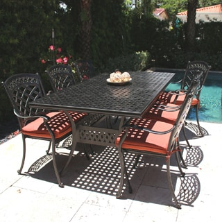 ComfortCare Large Dark Desert Bronze Cast Aluminum Patio Dining Set