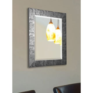American Made Rayne Safari Silvertone Textured Wall Mirror