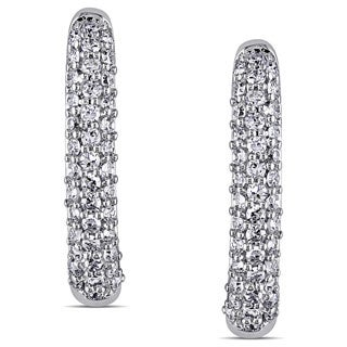 Miadora 14k White Gold 1/3ct TDW Diamond Earrings (G-H, SI1-SI2)