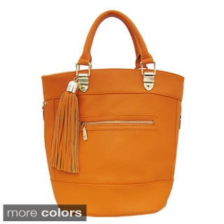 Cleopatra Karla Bucket Tote with Tassel