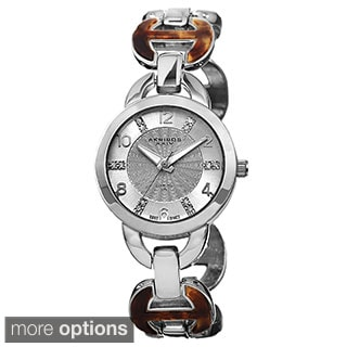 Akribos XXIV Women's Diamond Accent Swiss Quartz Watch