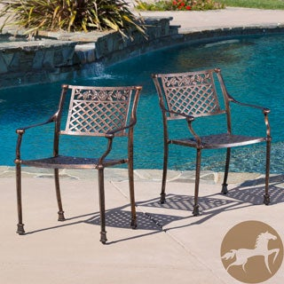 Christopher Knight Home Sebastian Cast Outdoor Chair (Set of 2)