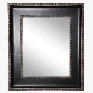 USA Made Rayne Parma Black with Silver Cage Trim Wall Mirror
