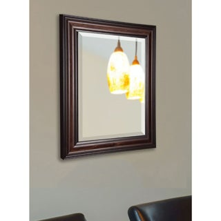 American Made Rayne Dark Walnut Beveled Wall Mirror