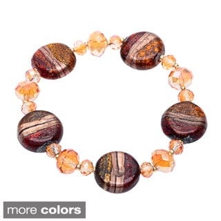 Alexa Starr Round glass stretch bracelet