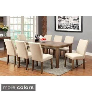 Furniture of America Sorine 9-piece Light Oak Dining Set