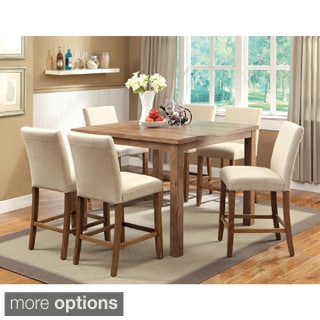 Furniture of America Seline 7-piece 48-inch Counter Height Dining Set