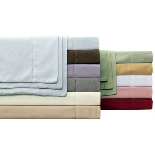 Hemstitch 400 Thread Count Sateen Sheet Set with Set of Two Bonus Pillowcases