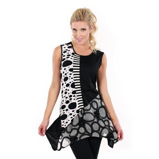 Women's Multi-print Sleeveless Top