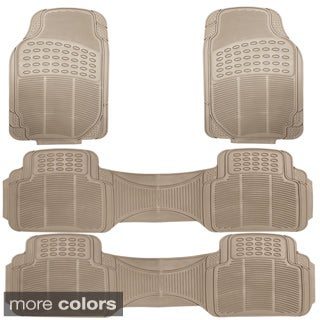 Oxgord's 'Ridged' Rugged 4-piece PVC Rubber Floor Mat Set