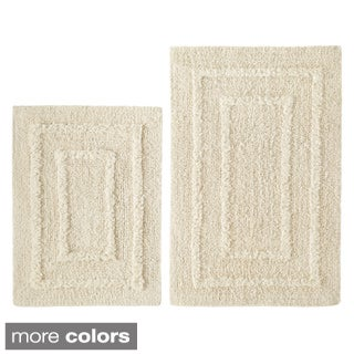 Celebration Solid Reversible 2-piece Bath Rug Set