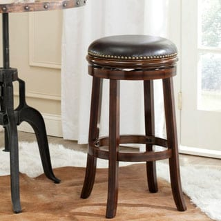 Safavieh 29-inch Biagio Espresso/ Brown Bar Stool