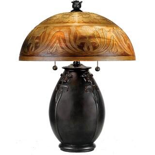 Quoizel 'Glenhaven' Teco Rossa Finish 2-light Table Lamp