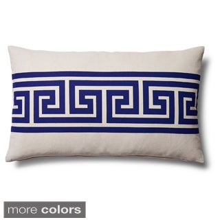 Greek Key Down Lumbar Accent Pillow