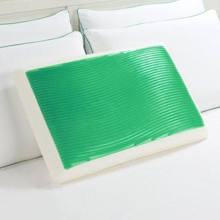 Comfort Memories Green Wave Memory Foam and Gel Pillow