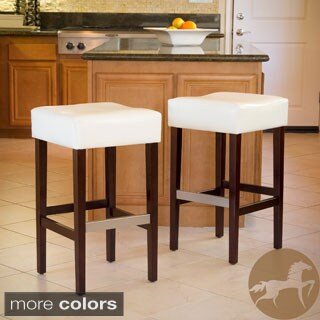 Christopher Knight Home Mondrian Backless Barstool Set Of 2