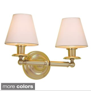 Backbay Polished Gold Finish 2-light Wall Sconce