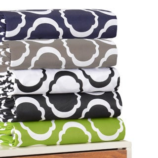 Cotton Blend Scroll Park Sheet Set