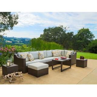 Corvus Matura 10-piece Hand-woven Wicker Patio Sectional Seating Set