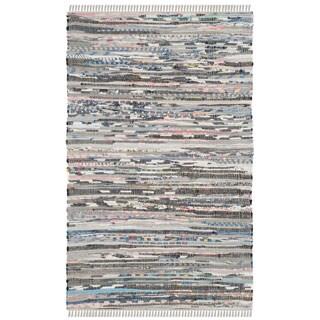 Safavieh Hand-woven Rag Rug Grey Cotton Rug (3' x 5')