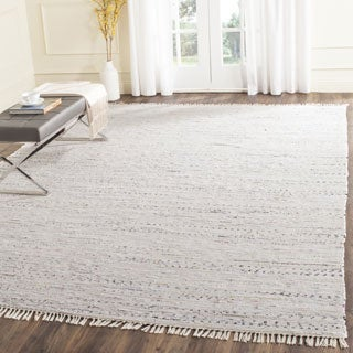 Safavieh Hand-woven Rag Rug White Cotton Rug (6' Square)