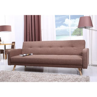 Abbyson Living Lorenzo Khaki Tufted Sleeper Sofa