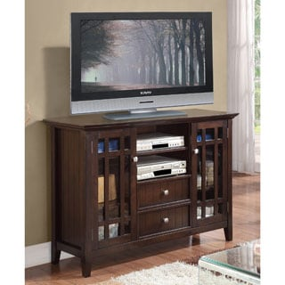 WYNDENHALL Freemont Collection Dark Tobacco Brown Tall TV Stand