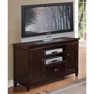 WYNDENHALL Richland Collection Dark Tobacco Brown TV Stand