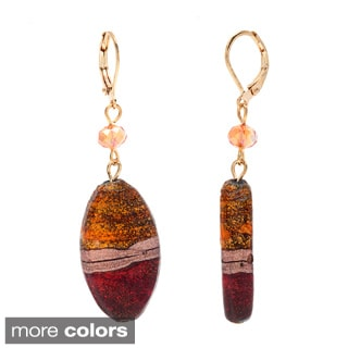 Alexa Starr Fancy Painted and Faceted Glass Earrings