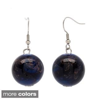 Alexa Starr Marbled Lucite Bauble Earrings