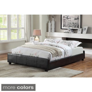 Furniture of America Miuralli Leatherette Low-profile Queen Bed Frame