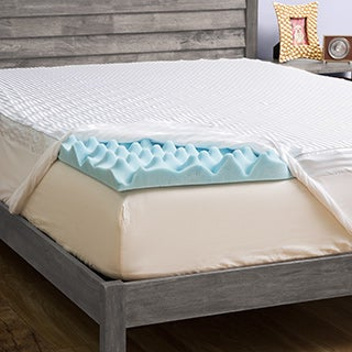Grande Hotel Collection 3-inch Big Comfort Gel Memory Foam Mattress Topper with Polysilk Cover