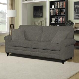 Portfolio Bradley Charcoal Grey Linen SoFast Sofa