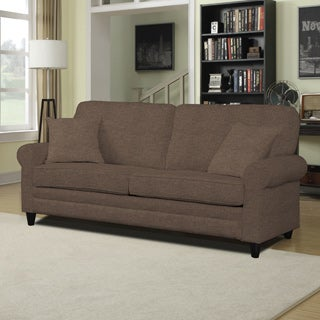 Portfolio Bradley Chocolate Brown Linen SoFast Sofa