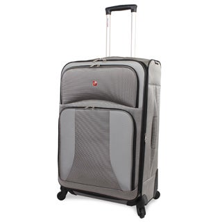 Swiss Gear Pewter 28-inch Spinner Upright Suitcase