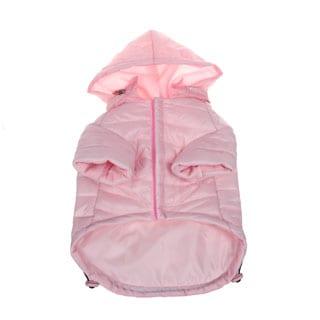 Pet Life Adjustable 'Sporty Avalanche' Pink Pet Coat