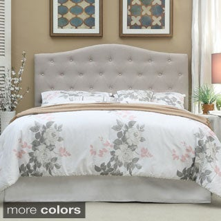 Furniture of America Flax Fabric Upholstered Tufted Headboard