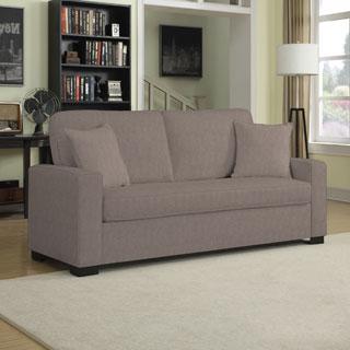 Portfolio Mona Smoke Gray Chenile SoFast Sofa