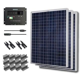 Solar Panel Starter Kit 300W with 3 100W Poly Sol Pan/ 20' Ad Kit/ 30A Chg Con/ MC4 Br Conn/ Z Br