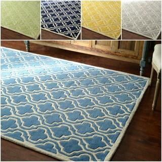 nuLOOM Hand-tufted Lattice Wool Rug (5' x 8')