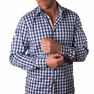 Men's 'Calabria' Blue Gingham Button-front Shirt